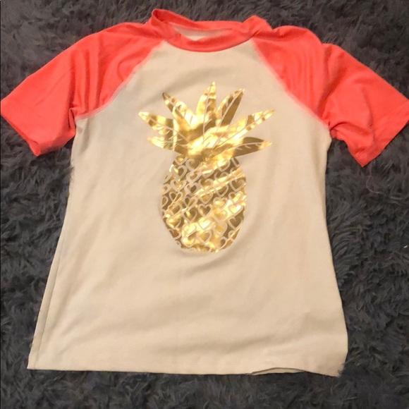 Cat & Jack Other - Pineapple rash guard/swim shirt
